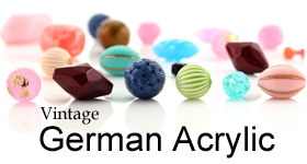 Vintage German Acrylic Beads