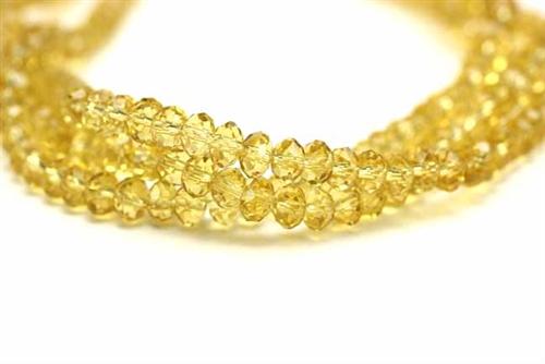 6mm Faceted Helix CitrineQuartz Mix Semi-Precious Gemstone Bead Strand 16 Inches Long